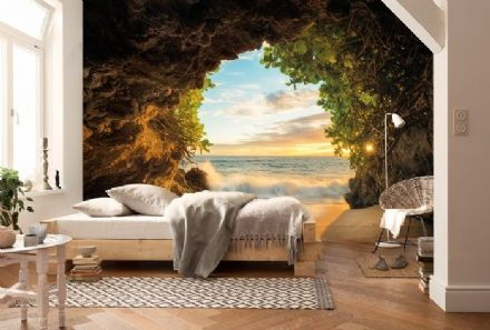 Sea view from beach  wall mural wallpaper